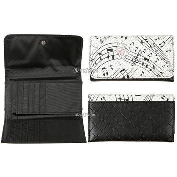 Licensed cool Disney The Aristocats MARIE CAT Music Notes Quilted Tri-Fold Wallet Loungefly