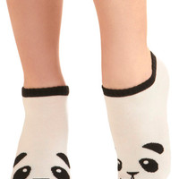 ModCloth Kawaii Flash in the Panda Socks