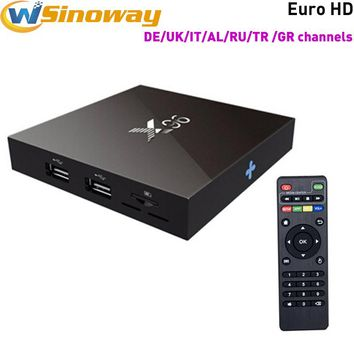 Android 6.0 Europe iptv Box X96 2G+16G with Iviewhd IPTV get HD sports channels Arabic Albania Germany UK Italia Greece IPTV