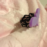 Creepy Cute Purple Bat Ring
