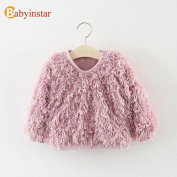 Baby Girl Knitted Sweater Children Girls  Long Sleeve Pullovers Kids Girl Outfits Toddler Girl's Fashion Outerwear