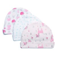 Rosie Pope® One-Size Ice Cream, Stars, and Unicorns 3-Pack Caps in Pink/Blue/Grey