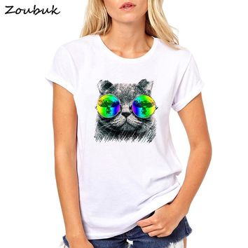 Big Purple Tooth Ghost Cheshire Cat Women tshirt Casual Funny lovely Dj Music lover cat t shirt Girl Top Tee Hipster Tumblr