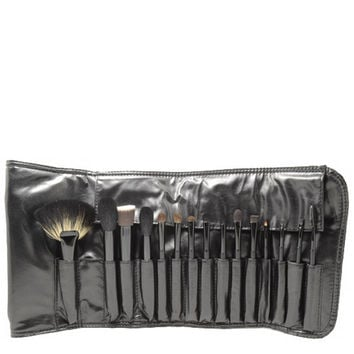 15 Piece Brush Set - Black