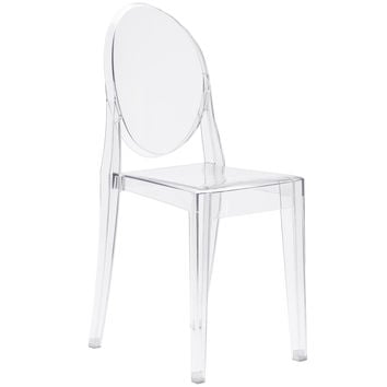 Burton Ghost Side Chair In Clear (Set of 2)