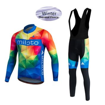 Winter long sleeve Cycling Clothing/Ropa Ciclismo Invierno/Thermal Fleece MTB Bike Bicycle Clothes Racing men Cycling Jersey Set
