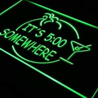 Margarita Its Five O Clock Somewhere Neon Sign (LED)