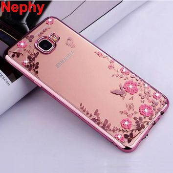 Case For Samsung Galaxy A3 A5 A7 2015 2016 2017 A 3 5 7 Duos A300 A310 A320 Cell Phone Cover Silicone Ultra thin Crystal Glitter
