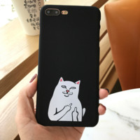 Black Ripndip Cat  Cover Case For Iphone 7 7Plus & 6 6s Pus &5 5s