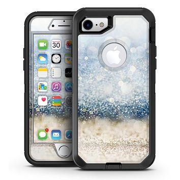 Unfocused Blue and Gold Sparkles - iPhone 7 or 7 Plus OtterBox Defender Case Skin Decal Kit