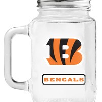 Duck House Cincinnati Bengals Mason Jar Glass With Lid