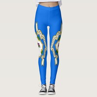 Leggings with flag of Connecticut State, USA