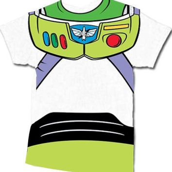 Toy Story Buzz Lightyear Astronaut Costume White T-shirt