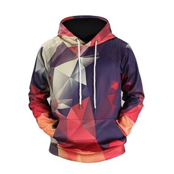 Skateboard Hoodies New Geometric Hoodies 3d Man Streetwear 2018 Fashion Hoody Men's Clothing Men 3d Sweatshirt Casual Hoodies