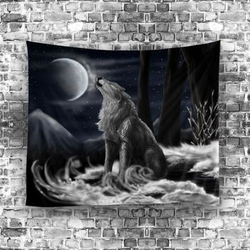 Indian Tapestry Hippie Home Decorative Wall Hanging Tapestries Wolf deer Towel Yoga Mat Bedspread Table Cloth
