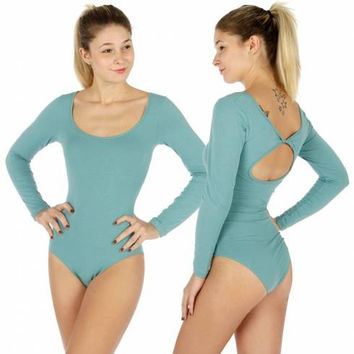 Christmas Gift  BODYSUIT BIRTHDAY GIFT Bodysuit Tank Top Women's top Gift for her Women's Bodysuit Solid long sleeve low neck bodysuit