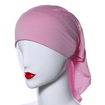 Muslim Headscarf Women Soft Comfortable Inner Hijab Caps Islamic Underscarf Hats PY3 SM6