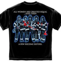 SISTERHOOD FIREFIGHTERS  - T-SHIRT