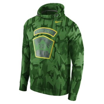 Nike Oregon 33 Camo Hyperspeed Men's Training Hoodie Size Small (Green)