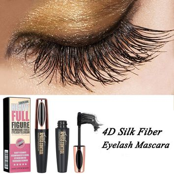 Long Lasting Voluminous 4D Silk Fiber Makeup Eyelash Mascara Extension Black Waterproof