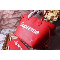 LV SUPREME MEDIUM EPI LEATHER NEVERFULL TOTE BAG