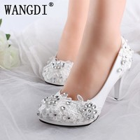 fashion lace wedding shoes