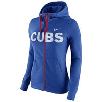 Chicago Cubs Women's Full Zip Blended Hoody by Nike - MLB.com Shop