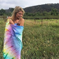 Sand Cloud Wanderlust Tie-Dye Beach Towel