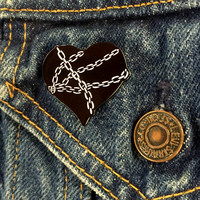 Expire 'Chained Heart' Enamel Pin