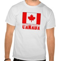 Canada Flag Snow Capped Word
