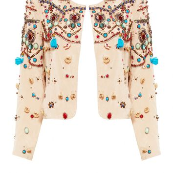alice + olivia | SYMSON EMBELLISHED BOX JACKET