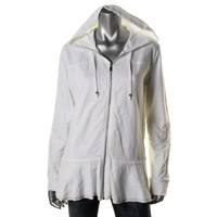 Style & Co. Womens French Terry Peplum Hoodie