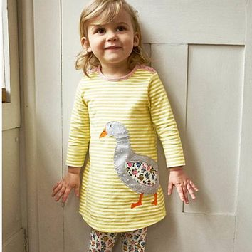 Animal Appliques Girl Dress