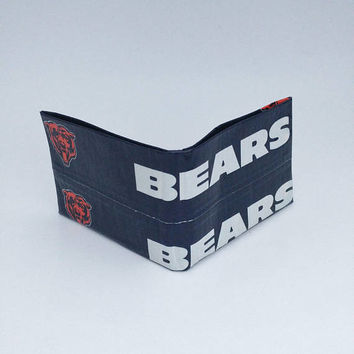 Chicago Bears Small Blue and Orange Men's Boy's Kid's Wallet, Billfold Bifold Wallet, Cool Christmas Gifts for Men, Stocking Stuffers
