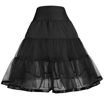 Tutu Skirt Slips Princess Girls 2017 Voile Retro Skirt Swing Rockabilly Petticoat Underskirt Kids Crinoline Pettiskirt 1~9 Years