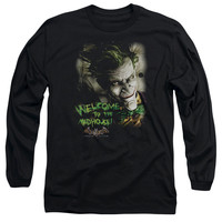 BATMAN AA/WELCOME TO THE MADHOUSE - L/S ADULT 18/1 - BLACK -
