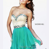 Strapless Sweetheart Formal Prom Gown By Sherri Hill 1928