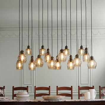 PAXTON GLASS 16-LIGHT PENDANT