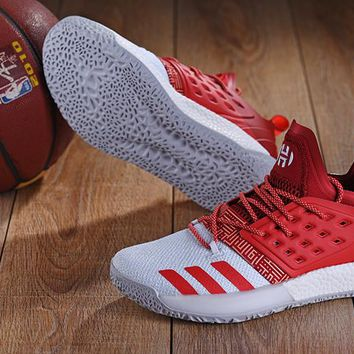 KUYOU A148 Adidas James Harden Vol.2 Boost Training Basketball Shoes Red White