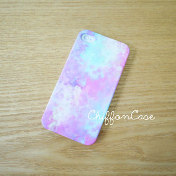Pastel iPhone 5 Case , iPhone 5 Cover, Unique Apple iPhone Case, Cute iPhone 5 Cases , Hard Plastic iPhone Cover - Watercolor Art Painting