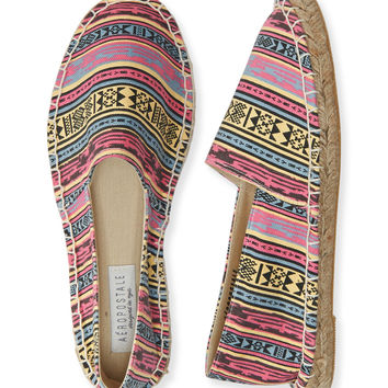 Aeropostale  Southwest Espadrille Slip-On Shoe - Black, 6