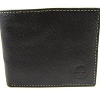 Timberland Men's Antique Leather Slimfold Bifold Billfold Wallet