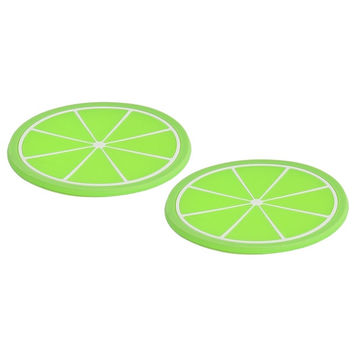 Household Silicone lime Pattern Heat Insulation Water Resistant Pad Mat 2pcs | Overstock.com Shopping - The Best Deals on Coasters