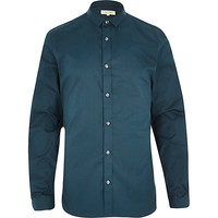River Island MensGreen long sleeve shirt