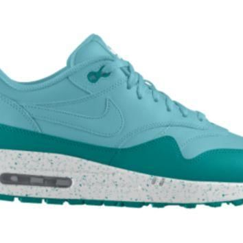 Nike Air Max 1 iD Custom Girls' Shoes 3.5y-6y - Blue