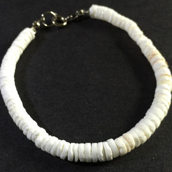 "8"" Puma Shell Anklet, lobster clasp"