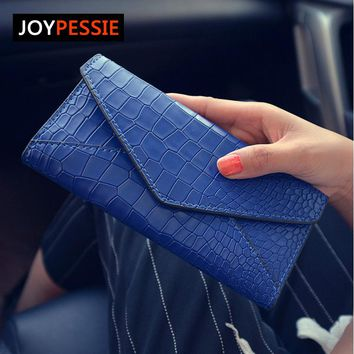 JOYPESSIE Stone Fashion Women Wallets Solid Color Wallet ID Card Holder Coin Purse Pockets Girls Clutch Hot Women Wallets