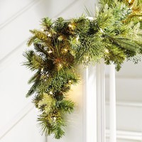 Pre-Lit Classic Deluxe Garland - 6'