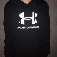 Under Armour Fashion Casual Hooded Top Sweater Pullover Noctilucent