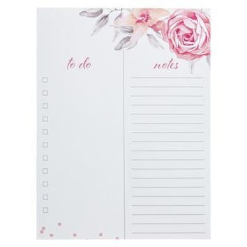Vintage Roses Large Notepad
